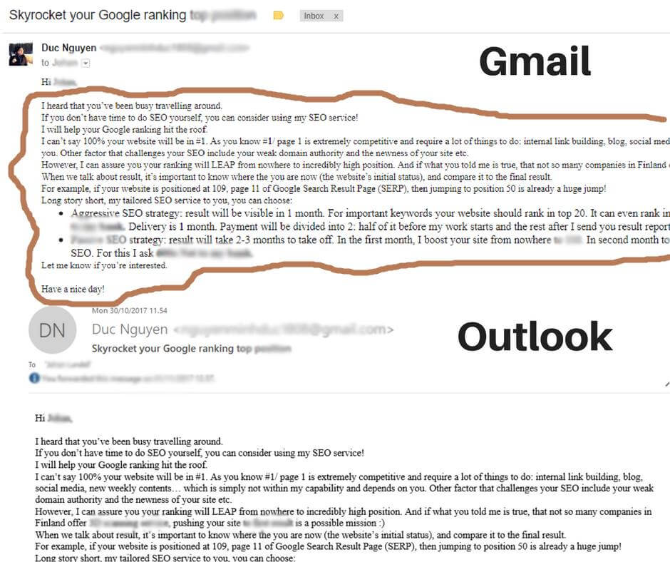 I will NEVER usr Outlook + Gmail again!