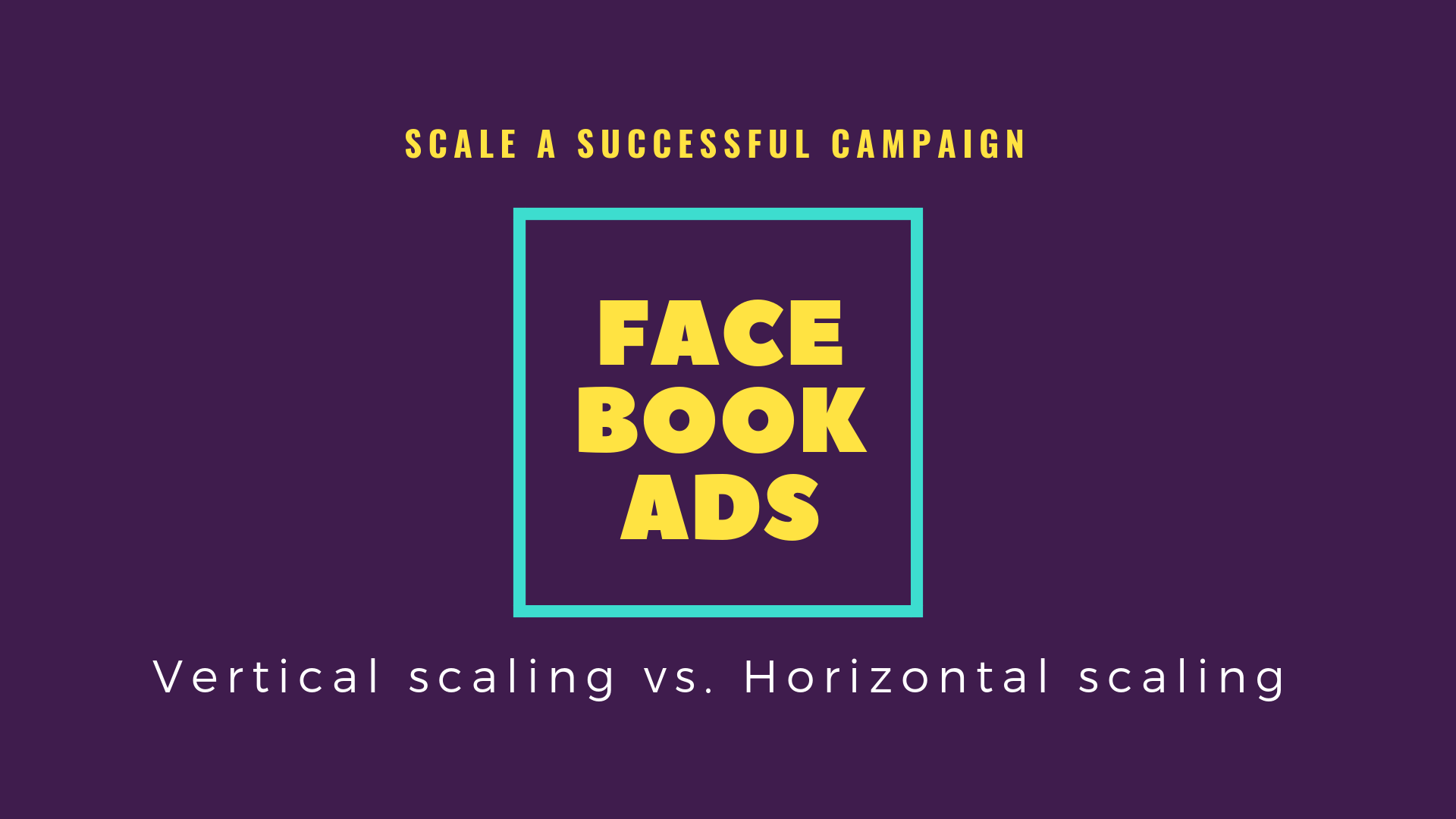 Scale a Successful Facebook Ads Campaign: Vertical Scaling vs. Horizontal Scaling