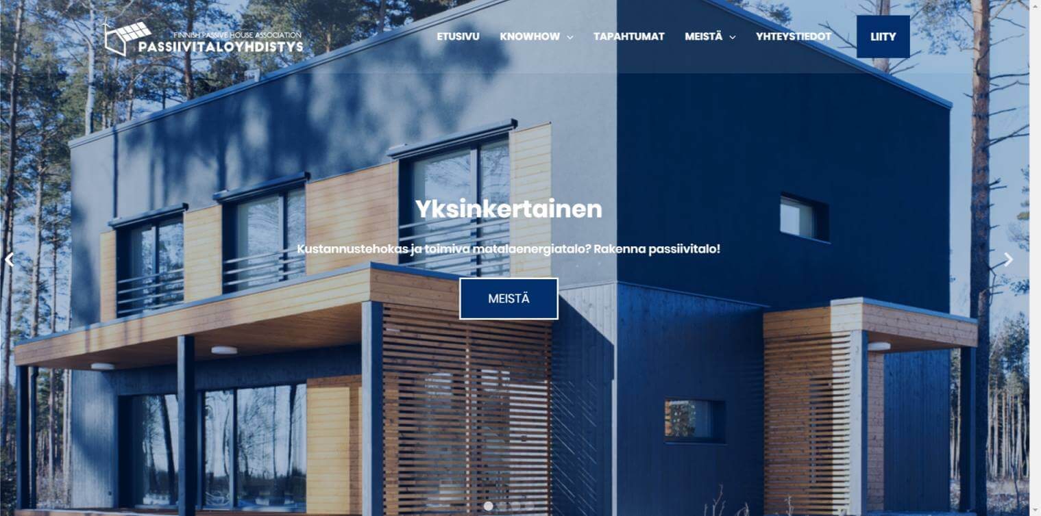 Latest testimonial from our client Passive House Association Finland