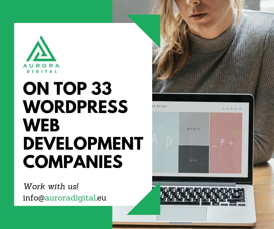 Aurora Digital is one of the top 2019 WordPress development agencies around the world!