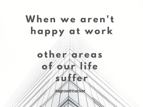 When we aren't happy at work, other areas of our life suffer