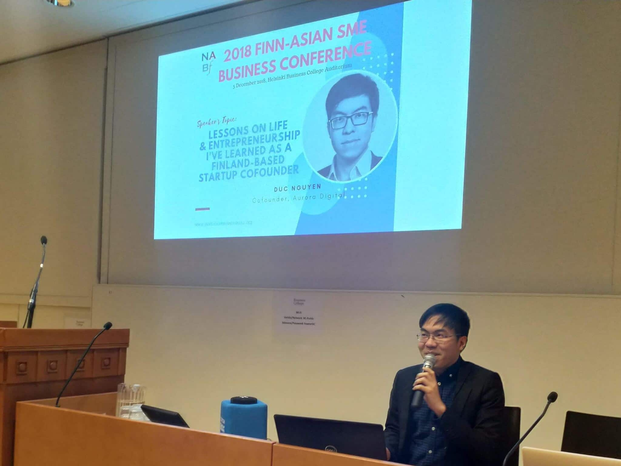I am a guest speaker at the FINN-ASIAN SME BUSINESS