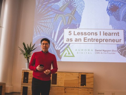 """It was a great pleasure for me to be one of the guest speakers at """"The Entrepreneurial Journey""""!"""
